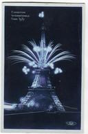 CPSM PARIS Expo 1937 Tour Eiffel ( Feu D' Artifice ) Colorisée Bleu - Expositions