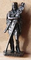 MONDOSORPRESA, (SLDN°98) KINDER FERRERO, SOLDATINI IN METALLO ROMANI 100/300 N° 1 SCAME BRUNITO - Metal Figurines