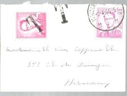 LETTRE 1965 TAXE  MOUSCRON    (PETITE LETTRE) - Lettres & Documents