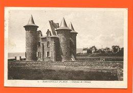 ET/206  BARNEVILLE PLAGE CHATEAU DE CHIMAY // écrite Timbre Poste - Barneville