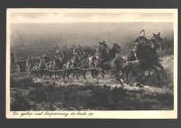 In Galop Met Bespanning De Heide Op - Militaire Post - 1939 - Uit Oldebroek - Patriotic