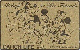 Télécarte DOREE Japon / 110-175427 - DISNEY - Dai Ichi Life - Japan GOLD Phonecard Telefonkarte Assu - Disney