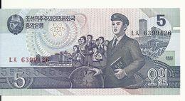 COREE DU NORD 5 WON 1998  UNC P 40 B - Corée Du Nord