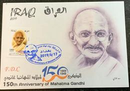 IRAQ 2019 MNH 150th Anniversary Of The Mahatma Gandhi FDC Official LTD India - Iraq