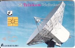 GERMANY(chip) - Satellite Dish(A 24), Tirage 55000, 09/92, Used - Espacio