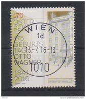 """Österreich 2016:  """"Otto Wagner""""  Gestempelt (siehe Foto/Scan) - 1945-.... 2nd Republic"""