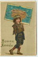 N°12924 - Carte Fantaisie - Bonne Année - Enfant Portant Un Billet De Banque - New Year
