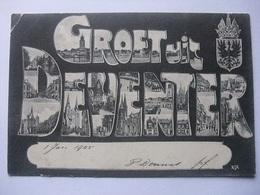 M94 Ansichtkaart Groet Uit Deventer - 1905 - Deventer