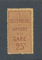 FRANCE - RARE - COLIS POSTAUX N° 3 NEUF* AVEC CHARNIERE - COTE : 1300€ - 1892 - Mint/Hinged