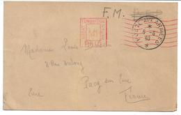 Carte De Franchise Militaire  Poste Aux Armées Oblitération Mécanique De TONBRIDGE (Kent ) Angleterre 1940 Vers La Fance - 1939-45