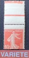 R1615/155 - 1907 - TYPE SEMEUSE - N°138 IA NEUF* - VARIETE ➤➤➤ Piquage à Cheval - Variétés Et Curiosités