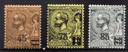 MONACO 1923 / 24  -SERIE  Y.T. N° 70 / 71 / 72 - NEUFS** - Monaco