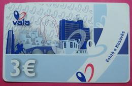 Kosovo Prepaid Phonecard, 3 Euro. Operator VALA *Capital City Pristina, Butterfly*, Serial # 1....... - Kosovo