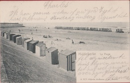Middelkerke La Plage Het Strand Strandkabines Edit. Hoffmann 3179 1904 (In Zeer Goede Staat) - Histoire