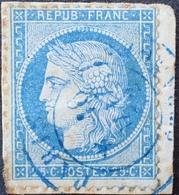 R1615/161 - CERES N°60A Sur Fragment - Cachet BLEU De PARIS DEPART Du 16 MAI 1876 - 1871-1875 Ceres