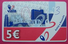 Kosovo Prepaid Phonecard, 5 Euro. Operator VALA *Capital City Pristina, Butterfly*, Serial # 15....... - Kosovo