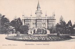 1900'S RARE CPA URUGUAY- MONTEVIDEO, LEGACION ARGENTINA. ADROHER HNOS EDITORES - BLEUP - Uruguay