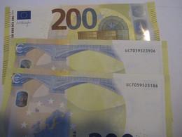 200 Euro-Schein UC,UD Draghi Unc.je - EURO