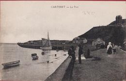 Carteret Le Port France Animee Visserij La Peche Vissersboot Fishing Boat (En Très Bon état) (In Very Good Condition) - Carteret