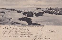 1905 RARE CPA URUGUAY- VISTA PARCIAL DEL SALTO GRANDE DEL RIO URUGUAY. R.ROSAUER EDIT. CIRCULEE BUENOS AIRES, SI - BLEUP - Uruguay