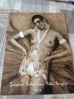 AFFICHE  DE JOSEPHINE  BAKER  AUX FOLIE  BERGERE 1927  24 Cm X 32 Cm - Posters