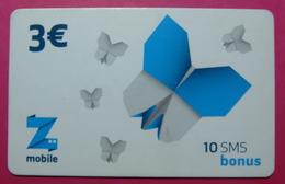 Kosovo Prepaid Phonecard, 3 Euro. Operator ZMOBILE *Butterfly*, Serial # 2....... - Kosovo