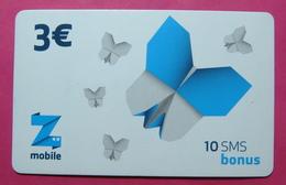 Kosovo Prepaid Phonecard, 3 Euro. Operator ZMOBILE *Butterfly*, Serial # 5....... - Kosovo