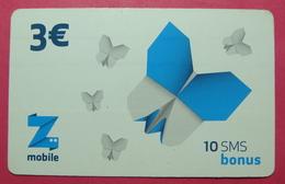 Kosovo Prepaid Phonecard, 3 Euro. Operator ZMOBILE *Butterfly*, Serial # 6....... - Kosovo