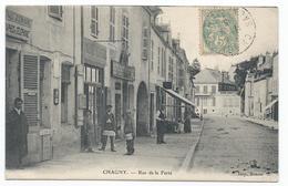 CHAGNY ( 71 - Saône Et Loire ) - Rue De La Ferté ( Animée, Personnes , Commerces ) - Excellent Etat - Chagny