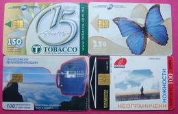 Macedonia Lot Of 4 CHIP Phone Cards - Macedonia