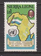 1983 Sierra Leone Africa Economic Commission Flag Complete Set Of 1 MNH - Sierra Leone (1961-...)