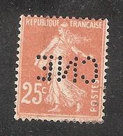 Perforé/perfin/lochung France No 235 CNE Comptoir National D'Escompte (310) - Francia