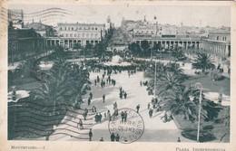 1905 RARE CPA URUGUAY- MONTEVIDEO. PLAZA INDEPENDENCIA. CIRCULEE MONTEVIDEO TO BUENOS AIRES - BLEUP - Uruguay