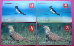 Slovenia Lot Of 4 PREPAID Phone Cards, BIRDS, 1000 Units - Slovenia