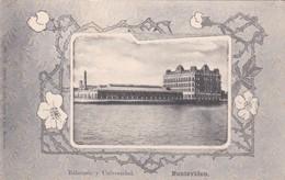 1900'S RARE CPA URUGUAY- MONTEVIDEO. BALNEARIO Y UNIVERSIDAD - BLEUP - Uruguay
