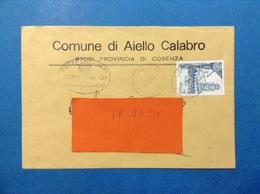 COMUNI D'ITALIA BUSTA DEL 1996 COMUNE DI AIELLO CALABRO COSENZA - 6. 1946-.. Repubblica
