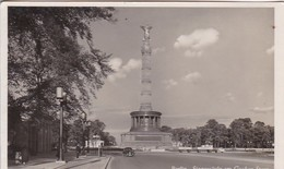 AK Berlin - Siegessäule Am Großen Stern - Feldpost 1942 - Werbestempel Vorsicht Mit Feuer In Wald Und Heide (42390) - Tiergarten