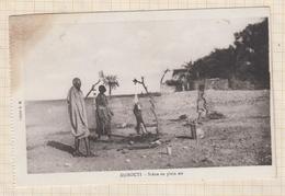 9AL1649 Coin Taché DJIBOUTI SCENE EN PLEIN AIR  2 SCANS - Costa D'Avorio