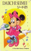 Télécarte Japon DISNEY / 110-114097 - Dai Ichi Life Versicherung Minnie - Japan Phonecard Telefonkarte Assu - Disney