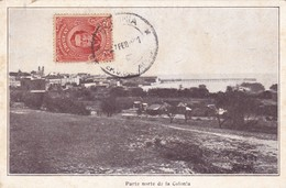 1920's RARISIME CPA URUGUAY- PARETE NORTE DE LA COLONIA. CIRCULEE URUGUAY TO BUENOS AIRES, FAMILLE LOUSTALAN - BLEUP - Uruguay