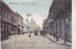 1900's RARISIME CPA URUGUAY- MONTEVIDEO. AVENIDA 25 DE MAYO. EDITOR A CARLUCCIO. VOYAGEE - BLEUP - Uruguay