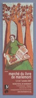 MARIEMONT MARCHE DU LIVRE 2007 - MARQUE PAGE *119* - Bookmarks
