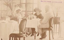 1920's RARISIME CPA URUGUAY- BALNEARIO CARRASCO, HOTEL COMEDOR, HIGH SOCIETY DRINKING CHAMPAGNE - BLEUP - Uruguay