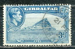 D - [SYL-0175]TB//-1938, N° 107, Une Pointe D'europe, Obl/used - Gibraltar