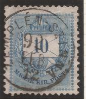 HUNGARY. ZEMPLENS SZINNA POSTMARK. 10kr USED - Hungary