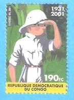 République Démocratique Du Congo-1931-2001-Tintin-Casque Colonial Timbre-Hergé-COB N°2092 - Nuovi