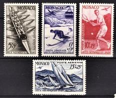 MONACO 1948 -  Y.T. SERIE N° 32 A 35 - 4 TP NEUFS** /1 - Poste Aérienne