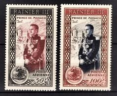MONACO 1949 / 1950  N° 49 ET 50 - NEUFS** /6 - Poste Aérienne