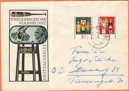 GERMANIA - GERMANY - Deutschland - ALLEMAGNE - DDR - 1967 - Volkskunst Aus Dem Erzgebirge - On FDC Cover - Viaggiata Da - FDC: Sobres