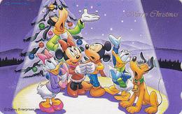 Télécarte Japon / 110-180835 - DISNEY Série NOEL 15/25 - CHRISTMAS Series MICKEY MINNIE Japan Phonecard - NAVIDAD  Sapin - Disney